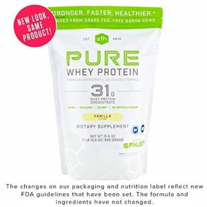 Best Without Soy: PURE Whey Protein Powder by SFH